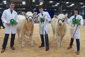 Charolais Team Will Tucker, Anwen Jones & Donald Maclean achieve 4th place at the National Young Show Stars Competition