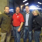 David Connolly and Sister Maggie McQuiston with judges Ben Sinnamon and Alan Morrison