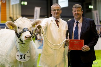 Andrew Hornall representing United Auctions presented the first prize card to Paul Burgess and Shamleys Iris