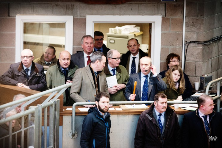 The auctioneer David brown had plenty of support in the rostrum