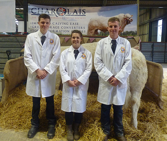 Donald, Abbie and Alan looking smart ready for the ring