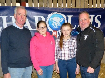 Host Will Short with the Junior Team Erin Quigley & Jill Balfour and David Connolly