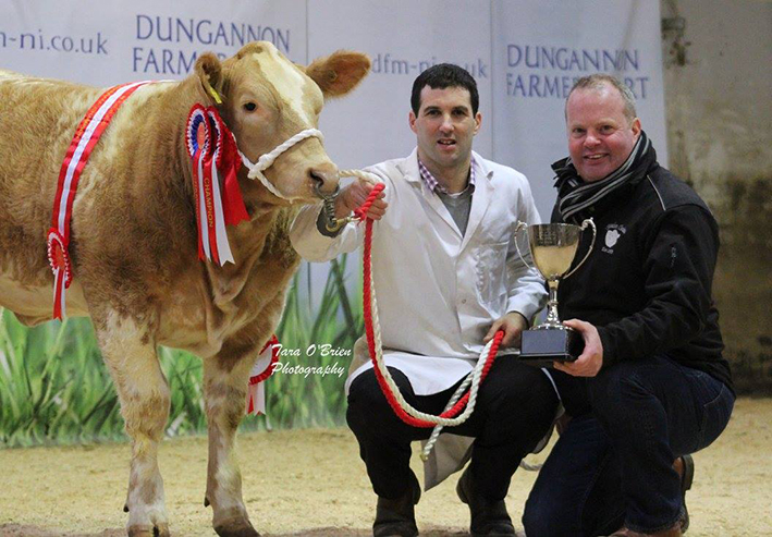 Sponsor Brigadoon Charolias with Surpreme Champion exhibited by Alan Veitch