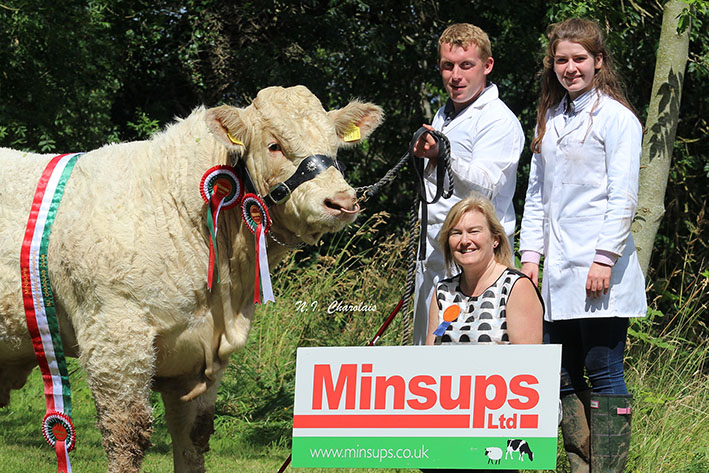 Minsups Senior Male Champion Stranagone Magic bred by the McWilliams family with Apryl Biddle (MD Minsups)