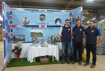 Brothers in Farms promotional stand